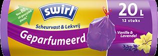 Geparfumeerde pedaalemmerzakken met vanille-lavendelgeur