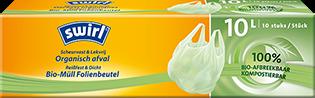 Biologisch afbreekbare afvalzakken met ecofolie en handvatten